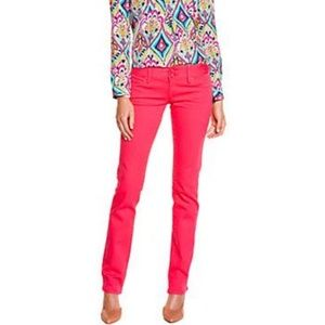Lilly Pulitzer women's Worth straight Pink jeans
